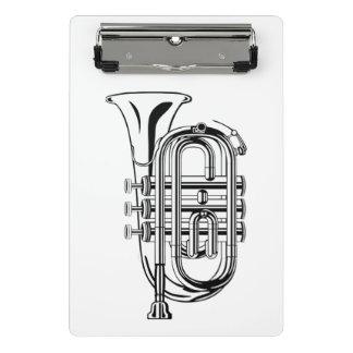 Instrumento musical del bosquejo blanco y negro de minicarpeta de pinza