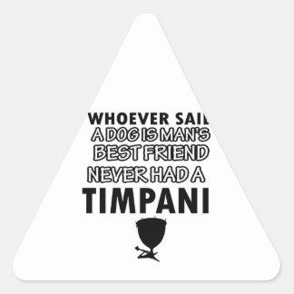 Instrumento musical del Timpani Pegatina Triangular