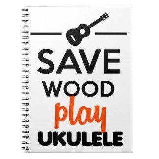 Instrumento musical del Ukulele - ahorre el ukulel Note Book