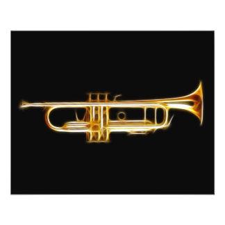 """Instrumento musical del viento del cuerno de cobre folleto 4.5"""" x 5.6"""""""