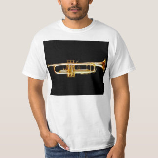 Instrumento musical del viento del cuerno de cobre playera