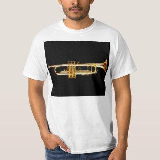 Instrumento musical del viento del cuerno de cobre poleras