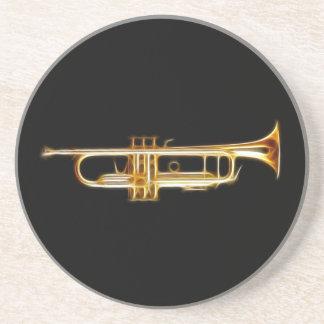 Instrumento musical del viento del cuerno de cobre posavasos cerveza