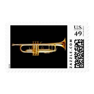 Instrumento musical del viento del cuerno de cobre sellos