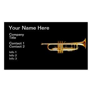 Instrumento musical del viento del cuerno de cobre tarjetas de visita