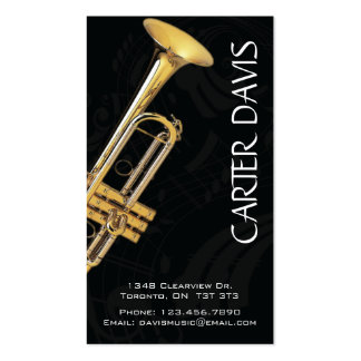 Instrumento musical - trompeta tarjetas de visita