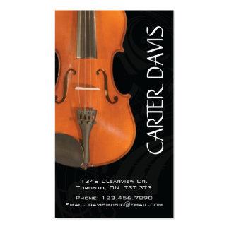 Instrumento musical - violín tarjetas de visita