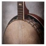 Instrumento - secuencia - un banjo típico azulejo ceramica