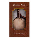 Instrumento - secuencia - un banjo típico tarjetas de visita