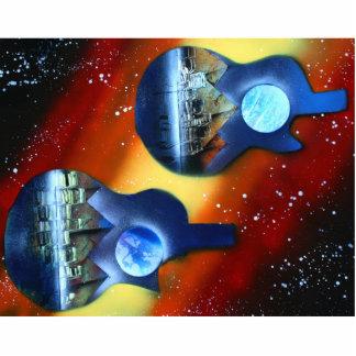 instrumento spacepainting de lado dos de las guita