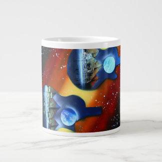 instrumento spacepainting de lado dos de las taza grande