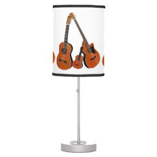 Instrumentos acústicos lámpara de mesa