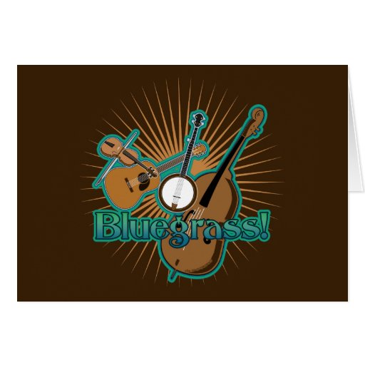 Instrumentos de Bluegrass Tarjeta De Felicitación