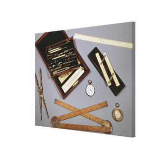 Instrumentos de dibujo usados por Isambard Impresión En Lienzo