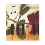 Instrumentos de los rosas del profesor de las nota bloc de notas