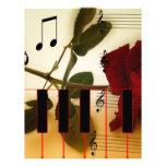 Instrumentos de los rosas del profesor de las nota membrete a diseño