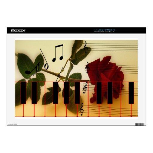 Instrumentos de los rosas del profesor de las nota skins para portátiles