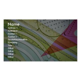 Instrumentos de medida tarjetas de visita