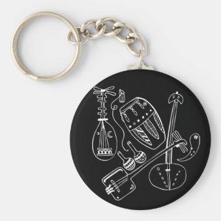 Instrumentos de música del mundo llavero redondo tipo pin