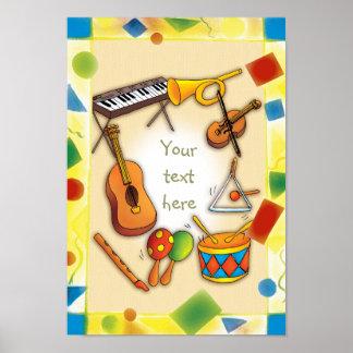 Instrumentos de música - poster