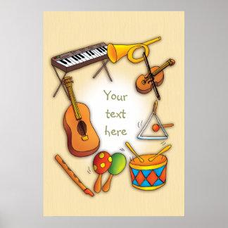Instrumentos de música póster