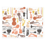 Instrumentos de música tarjeta postal