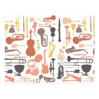 Instrumentos de música tarjetas postales