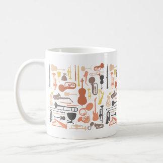 Instrumentos de música taza de café