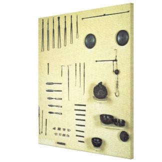 Instrumentos del caso de un oculista, de Reims Impresiones En Lona Estiradas