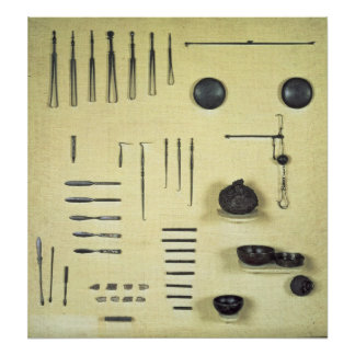 Instrumentos del caso de un oculista, de Reims Posters