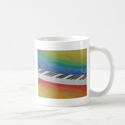 Instrumentos del destino del profesor de las notas taza clásica