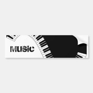Instrumentos del teclado de Aziza Pegatina De Parachoque