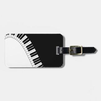 Instrumentos del teclado de Aziza Etiqueta Para Maleta