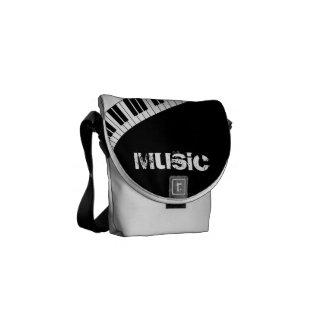 Instrumentos del teclado del destino de la música bolsa de mensajeria