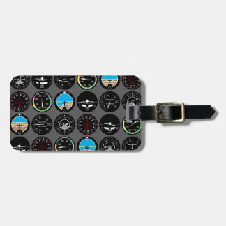 Instrumentos del vuelo etiquetas maletas