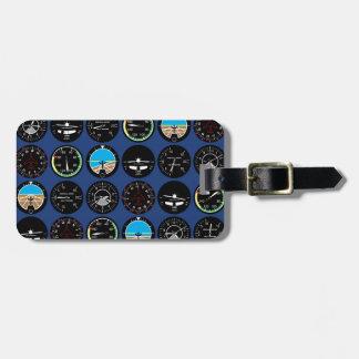 Instrumentos del vuelo etiquetas bolsa