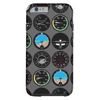 Instrumentos del vuelo funda resistente iPhone 6