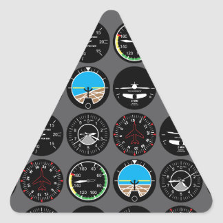 Instrumentos del vuelo calcomanías de trianguloes personalizadas