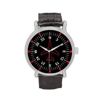 Instrumentos del vuelo relojes de pulsera