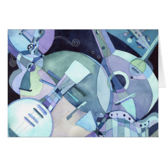 Instrumentos musicales atados: Tarjeta en blanco