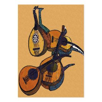 Instrumentos musicales atados tarjetas de visita grandes
