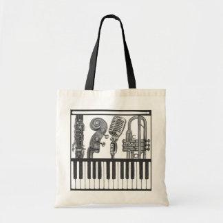 Instrumentos musicales chillones en la bolsa de