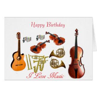 Instrumentos musicales para la tarjeta de