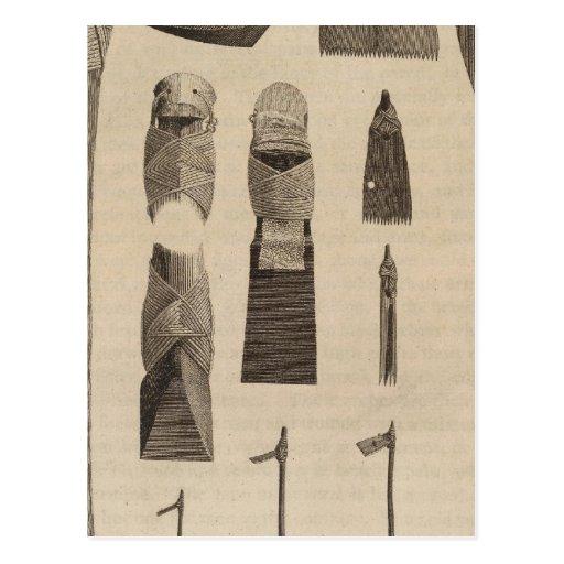 Instrumentos nativos, Otaheite, Tahití Postal