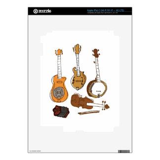 Instrumentos populares iPad 3 pegatinas skins