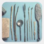 Instrumentos quirúrgicos calcomanía cuadrada