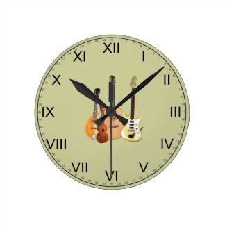 Instrumentos Secuencia-Musicales Relojes De Pared