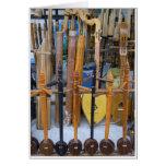 Instrumentos tailandeses tradicionales tarjetón