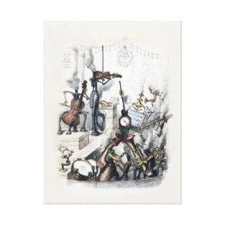 Instrumentos vivos por J J Grandville - Autre Impresión En Lienzo Estirada