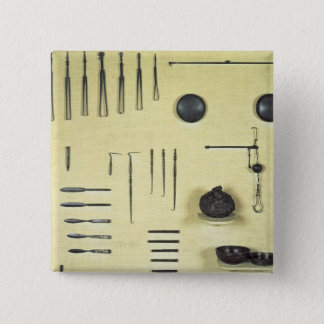 Instruments from an oculist's case, from Reims Button